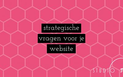 Strategische vragen voor je website