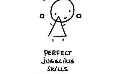 Leren jongleren en spannende tijden