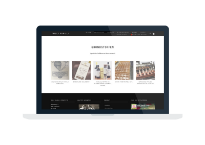Studio Pi Webdesign voor Willy Vanilli