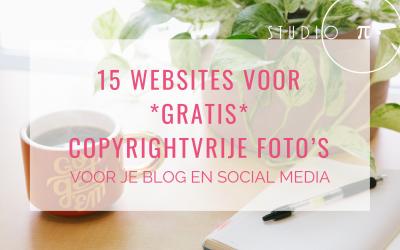 15 websites voor gratis copyrightvrije foto's voor je blog en social media